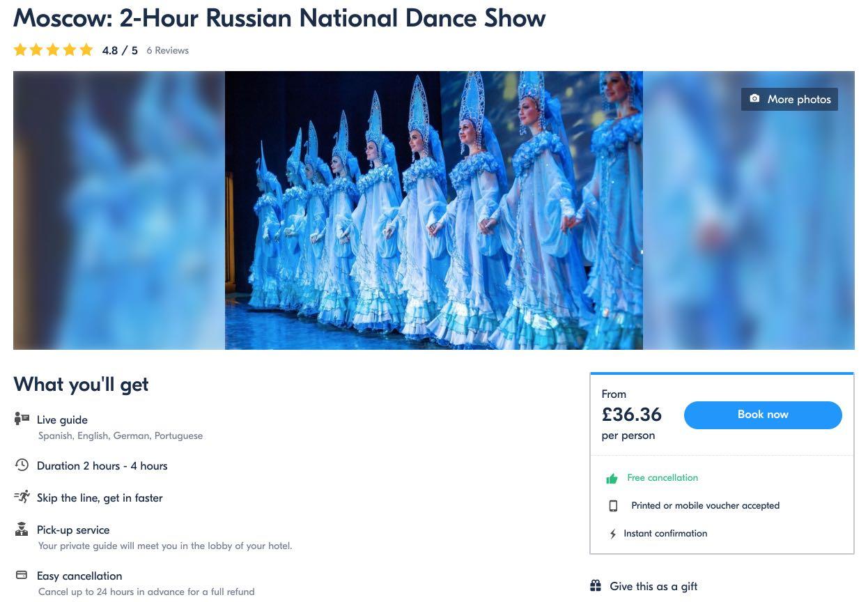 Moskva 2-timers russisk nasjonaldanshow Kostroma